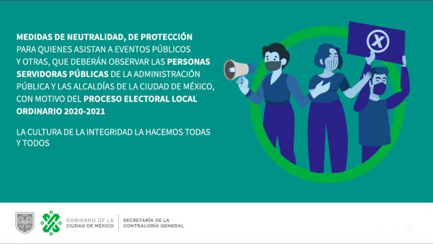 Medidas cautelares para personas servidoras públicas durante el proceso electoral local 2020-2021